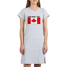 Custom Canada Flag Women's Nightshirt