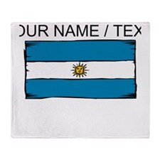 Custom Argentina Flag Throw Blanket