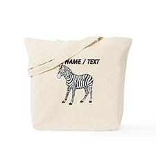 Custom Zebra Tote Bag