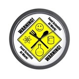 """Warning Food Scientist..."" Wall Clock"