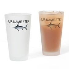 Custom Swordfish Drinking Glass