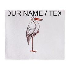 Custom Great Heron Throw Blanket