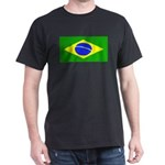 Brazil Blank Flag Black T-Shirt