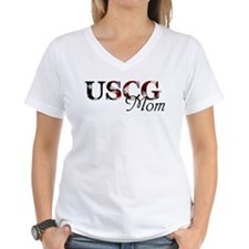 USCG Mom Ash Grey T-Shirt