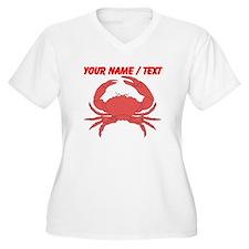 Custom Red Crab Plus Size T-Shirt