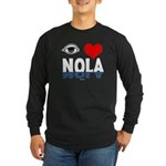 Eye Love NOLA (brown) Long Sleeve Dark T-Shirt