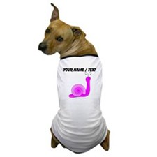 Custom Pink Snail Dog T-Shirt