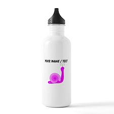 Custom Pink Snail Water Bottle
