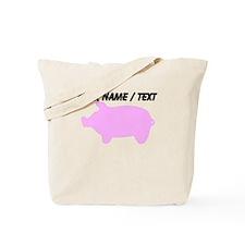 Custom Pink Piggy Silhouette Tote Bag