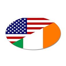 Irish American Flag Wall Decal
