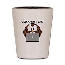 Custom Computer Nerd Owl Shot Glass