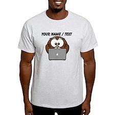 Custom Computer Nerd Owl T-Shirt