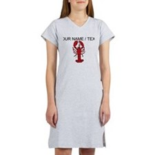 Custom Red Lobster Women's Nightshirt