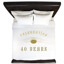 Celebrating 40 Years Of Marriage King Duvet