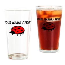 Custom Ladybug Cartoon Drinking Glass