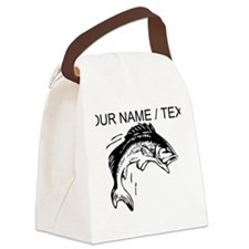 Custom Jumping Bass Canvas Lunch Bag