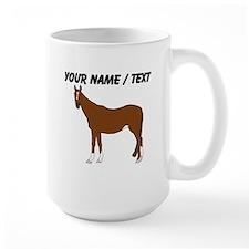 Custom Brown Horse Mug