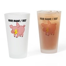 Custom Cartoon Pig Drinking Glass