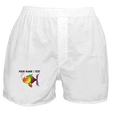 Custom Cartoon Tropical Fish Boxer Shorts