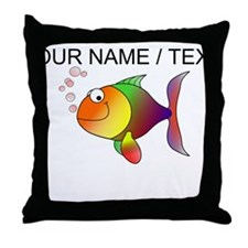 Custom Cartoon Tropical Fish Throw Pillow
