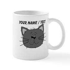 Custom Grey Cat Face Mug