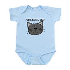 Custom Grey Cat Face Body Suit