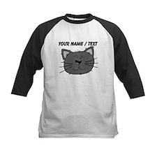 Custom Grey Cat Face Baseball Jersey