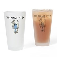 Custom Cartoon Goat Drinking Glass