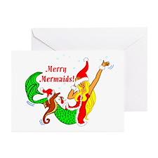 Merry Mermaid Greeting Cards (Pk of 10)