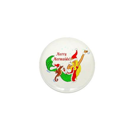 Merry Mermaid Mini Button (10 pack)