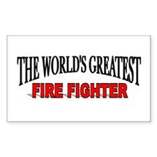 """""""The World's Greatest Fire Fighter"""" Decal"""