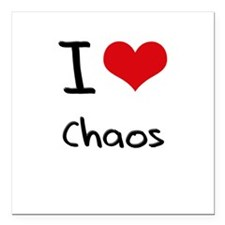 "I love Chaos Square Car Magnet 3"" x 3"""