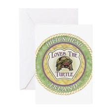 Hilton Head Turtle Greeting Card