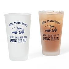 40th Anniversary Humor (Long Haul) Drinking Glass