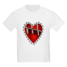 Caged, Barbed Heart Kids T-Shirt