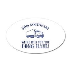 50th Anniversary Humor (Long Haul) 35x21 Oval Wall