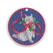 Cat Ornament (Round)