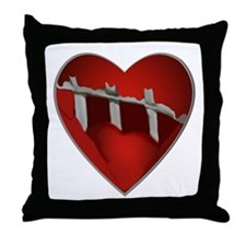 Broke, Screaming Caged Heart Throw Pillow