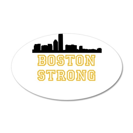 BOSTON STRONG GOLD AND BLACK Wall Decal