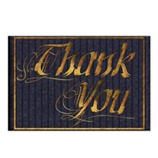 Harvest Moons Elegant Thank You Postcard Pack of 8