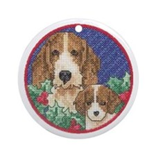 Bassets Ornament (Round)