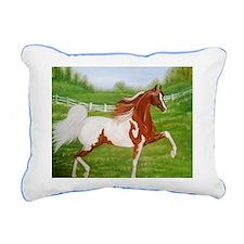 Chestnut Saddlebred Rectangular Canvas Pillow