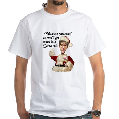 Santa Kerry White T-Shirt