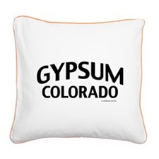 Gypsum Colorado Square Canvas Pillow