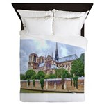 paris notra dam B.jpg Queen Duvet