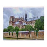 paris notra dam B.jpg Throw Blanket