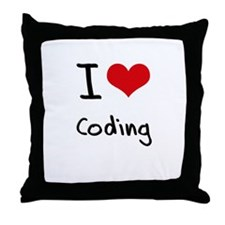 I love Coding Throw Pillow