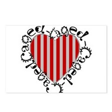Caged Heart Postcards (Package of 8)