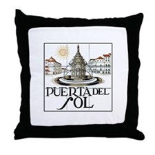 Puerta del Sol, Madrid - Spain Throw Pillow