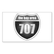 Interstate 707 Rectangle Decal